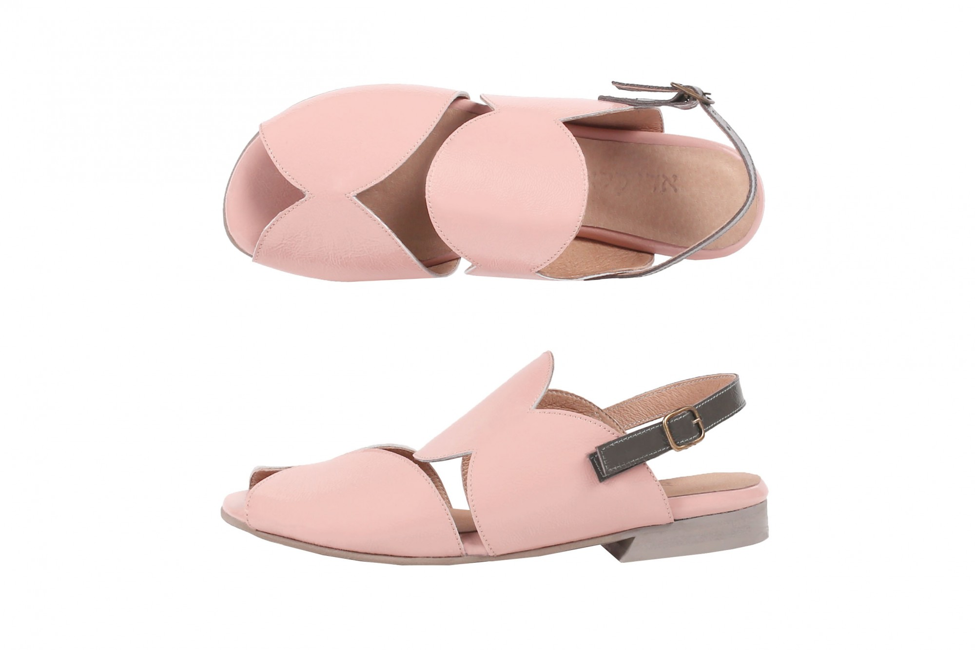f33238f2e7931 Pink cutouts sandals