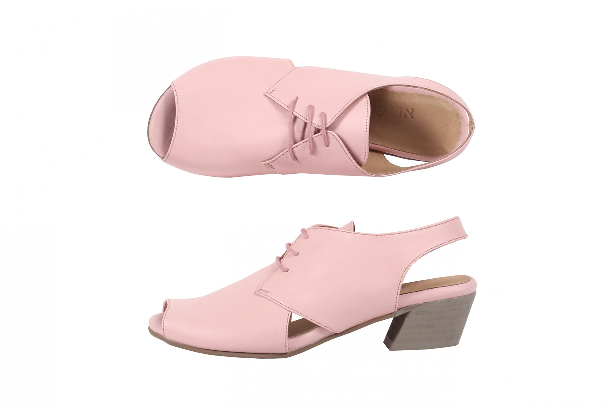 f50e9347a96ca Pink leather sandals