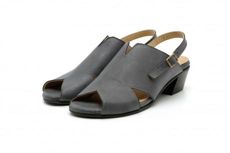Low heel gray sandals