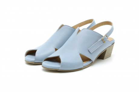 Heeled baby blue sandals