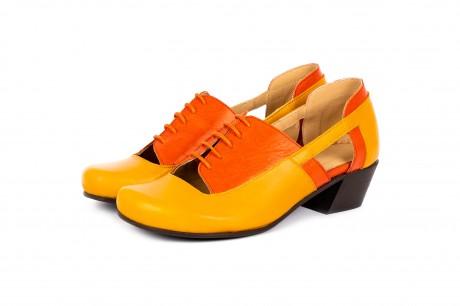 Yellow cutout shoes