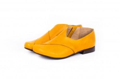 Flat yellow shoes