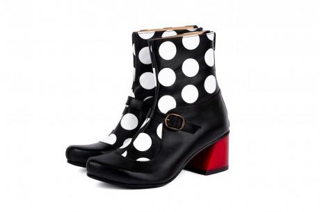 Funky block heel boots
