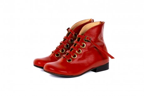 Wide women's boots red