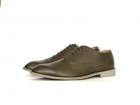 Olive green men's shoes