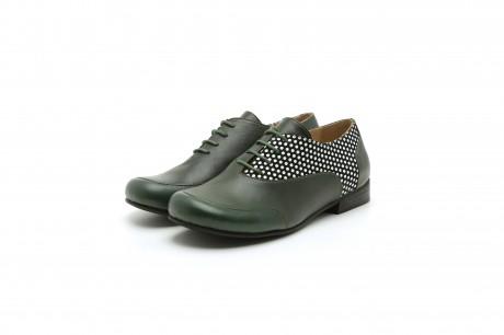 Dark green women's shoes