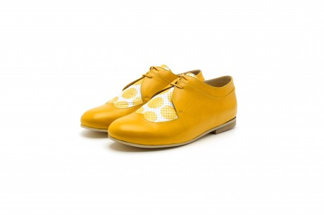 Yellow oxford shoes