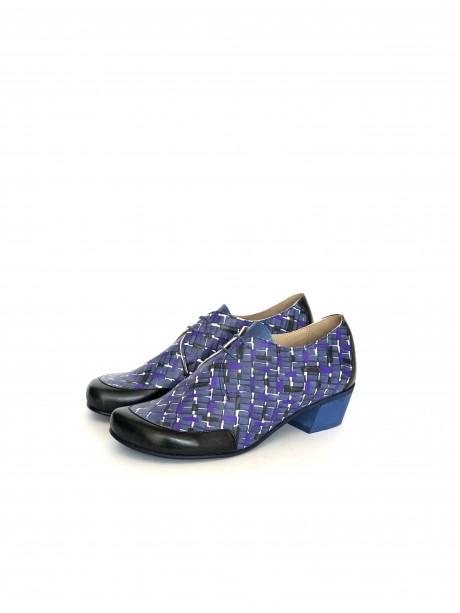 Low heel bluish shoes
