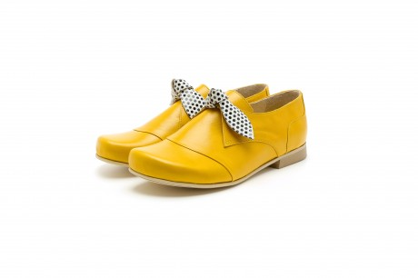 Women's yellow slip on shoes