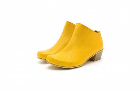 Yellow ankle boots