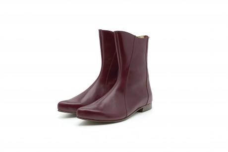 Women's boots flat pointy in purple