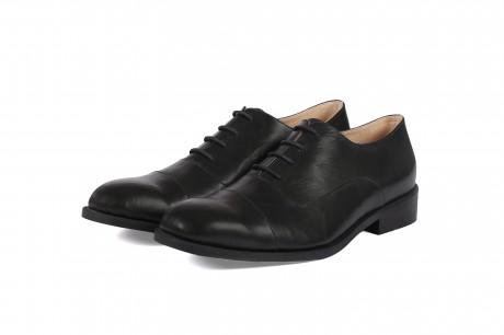 נעלי אוקספורד מעור שחור לגברים