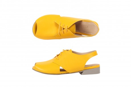 Flat yellow sandals