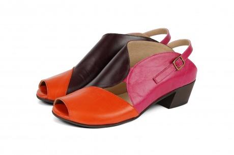 Colorful cutout sandals