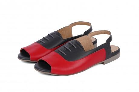 Black open toe pumps