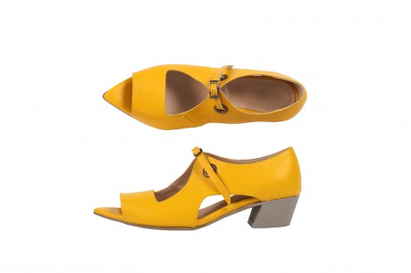 Yellow cutouts sandals