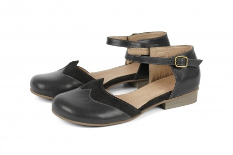 Gray closed toe sandals