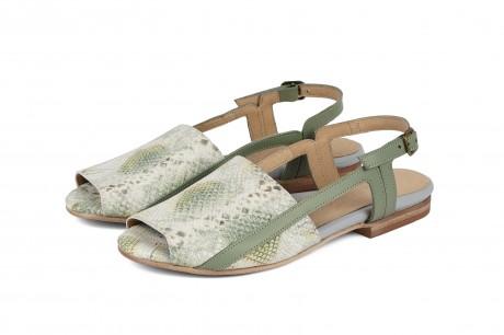 Pastel green sandals