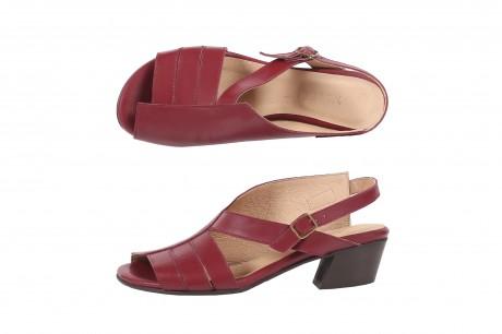 Low heel Marsala  sandals