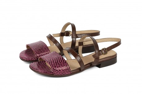 Pink and Brown sandals