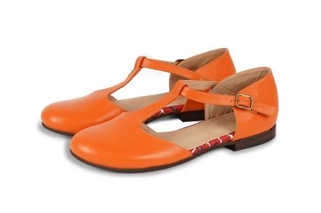 Orange closed toe sandals