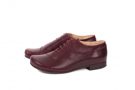 נעליים שטוחות מעור חציל