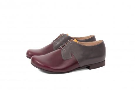 נעליים שטוחות אפור-חציל