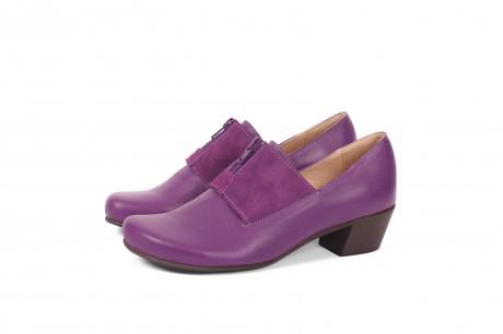 נעלי עקב רוכסן סגול