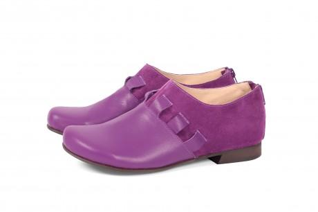 נעליים שטוחות מעור סגול