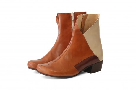 Brown mid calf boots for women