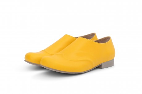 Yellow women's loafers shoes